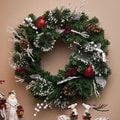 Cypress LED Snow Frosted Pinecone / Berry Wreath