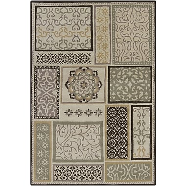 Chandra Gagan Brown/Tan Area Rug; 7' x 10'