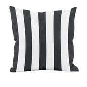 E By Design Classic Stripe Decorative Throw Pillow; 18'' H x 18'' W