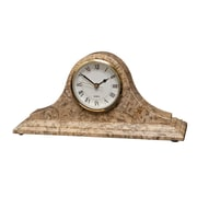 Designs By Marble Crafters Saturn Clock; Fossil Stone