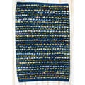 CLM Staccato Navy Rug; 2' x 3'