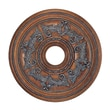 Livex Lighting Ceiling Medallion in Crackled Bronze with Vintage Stone Accents; Medium