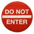 Entryways Sweet Home Do Not Enter Doormat