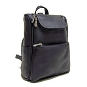 Le Donne Leather Women's Everyday Backpack; Black