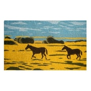 Imports Decor Tufted Silhouetted Horses Doormat; 18'' x 30''