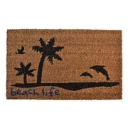 Imports Decor Molded Beach Life Doormat; 30'' x 18''