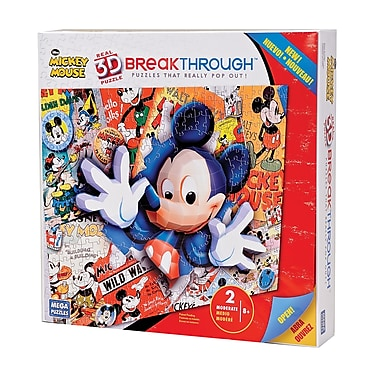 Mega Brands 200 Piece 3D Breakthrough Mickey Mouse Puzzle