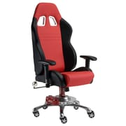Pit Stop Furniture Chair with Racing Suspension Spring; Red