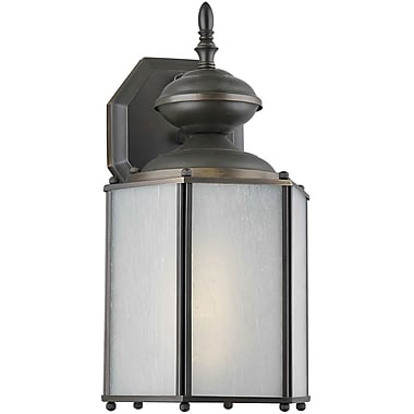 Forte Lighting 1 Light Outdoor Wall Lantern; Antique Bronze