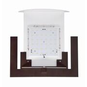 Philips Forecast Lighting Bow 1 LED Light Wall Sconce; Merlot Bronze
