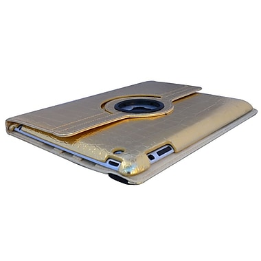 Bargain Tablet Parts Ipad 2 and Ipad 3 Crocodile Rotating Case; Gold