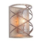 Woodbridge Braid 1-Light Wall Sconce; Mirror Mosaic Glass