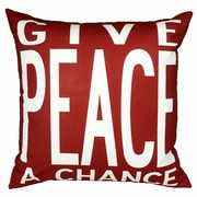Uptown Artworks Peace Throw Pillow; Red