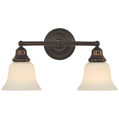 Dolan Designs Brockport 2 Light Vanity Light; Royal Bronze
