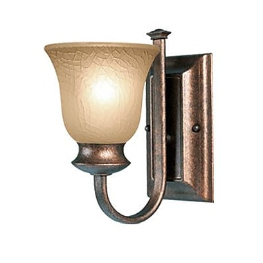 Woodbridge Dresden 1-Light Wall Sconce; Marbled Bronze