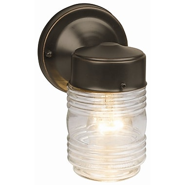 Design House Jelly Jar 1 Light Outdoor Sconce; Oil Rubbed Bronze