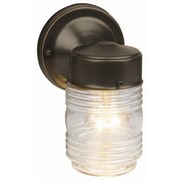 Design House Jelly Jar 1 Light Sconce; Oil Rubbed Bronze