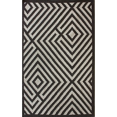 nuLOOM Gelim Brown Geometric Diamond Area Rug; 5' x 8'