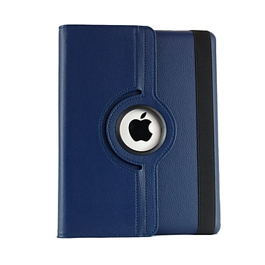 Bargain Tablet Parts iPad Air Synthetic Leather Rotating Case; Navy Blue