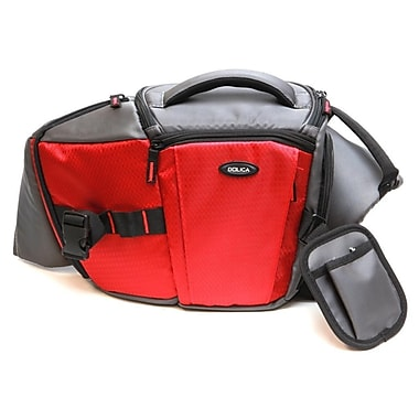 Dolica Sling Backpack; Red / Gray