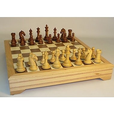 WorldWise Chess Sheesham Camelot with Chest Chess Set