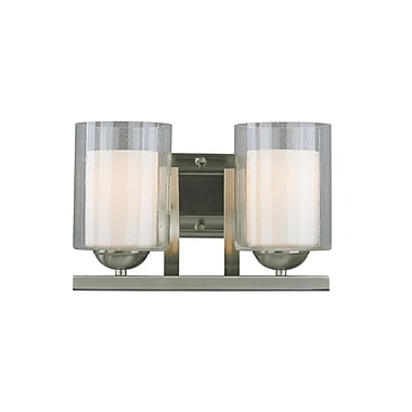 Woodbridge Cosmo 2-Light Vanity Light; Satin Nickel