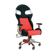 Pit Stop Furniture Chair with Lumbar Support; Red