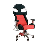 Pit Stop Furniture Mid-Back Desk Chair; Red