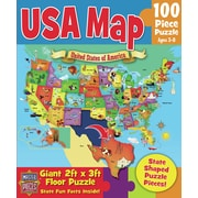 MasterPieces USA Map 100 Piece Floor Puzzle
