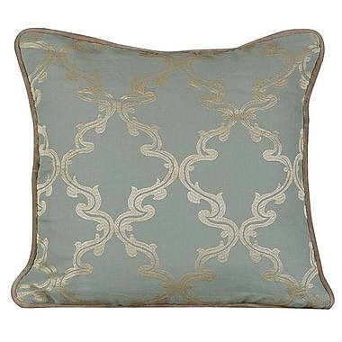 Gracious Living Joyous Linen Throw Pillow; Charlotte Blue