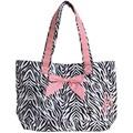 Jessie Steele Zebra Tote Bag with Bow