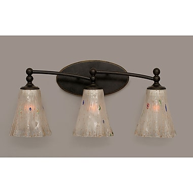 Toltec Lighting Capri 3 Light Vanity Light; Frosted