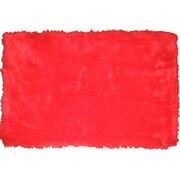 LA Rugs Flokati Red Area Rug; 3'3'' x 4'10''