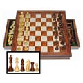 Wood Expressions Camphor Chess Set with Drawers