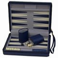 Wood Expressions Travel Magnetic Backgammon in Blue