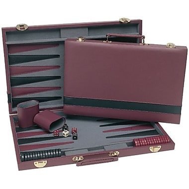 Wood Expressions Backgammon in Burgundy / Black