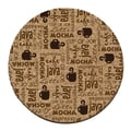 Thirstystone Coffee Break Cork Coaster Set (Set of 6)