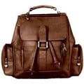 David King Mid Size Top Handle Backpack; Caf  / Dark Brown