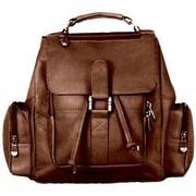 David King Mid Size Top Handle Backpack; Caf  / Dark Brown