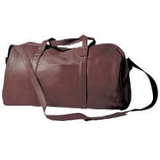 David King 18'' Leather Travel Duffel; Caf  / Dark Brown