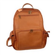 David King Large Front Zip Laptop Backpack; Tan