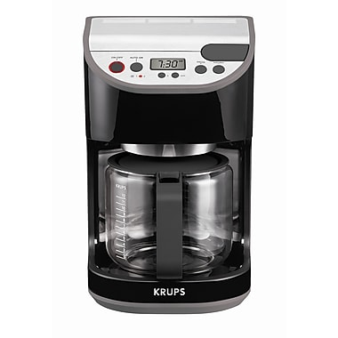 Krups Precision 12 Cup Carafe Coffee Machine; Black