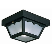 Design House 2 Light Flush Mount; Black Polypropylene