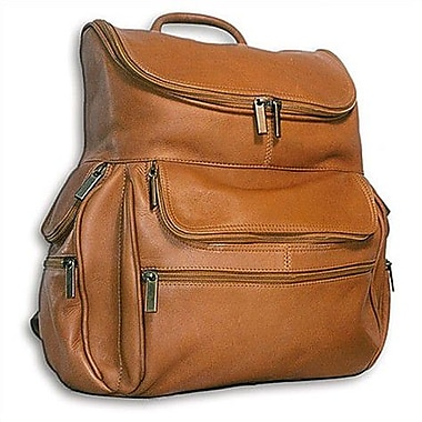 David King U-Shaped Laptop Backpack; Tan