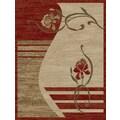 Ottomanson Royal Dark Red/Beige Floral Rug; 7'10'' x 9'10''