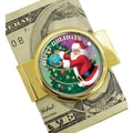 American Coin Treasure JFK Half Dollar Santa Coin Goldtone Money Clip