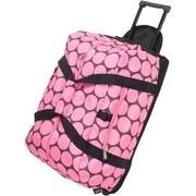 Wildkin Good Times Big Dots Rolling Duffel Bag; Hot Pink