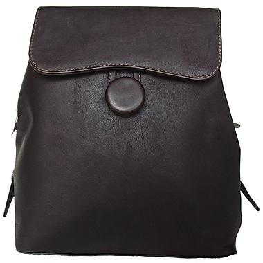 Piel Fashion Avenue Ladies Backpack; Chocolate