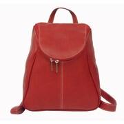 Piel U-Zip Flap Backpack; Red