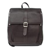 Piel Slim Computer Backpack; Chocolate